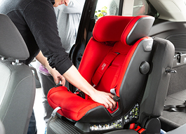 Child seat testing - Wide range of